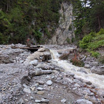 Starkniederschlag im Muttekopfgebiet