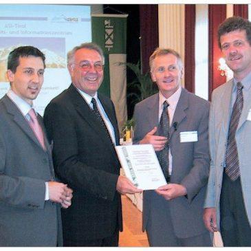 ASI-Tirol gewinnt den Arge-Alp-Preis 2002