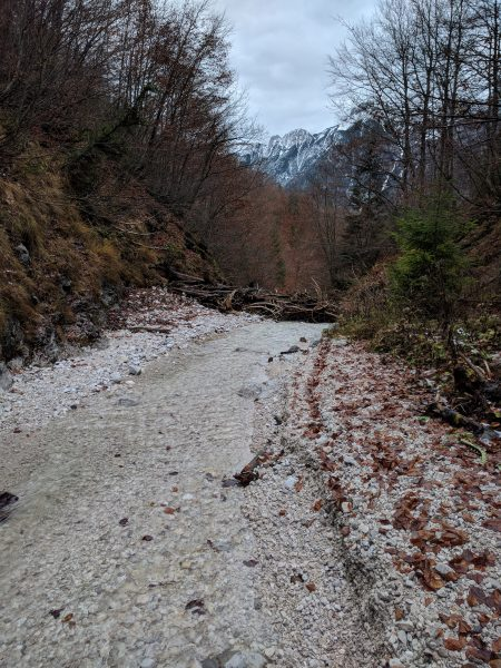 Unterer Teil - offene Strecke - Holzverhau