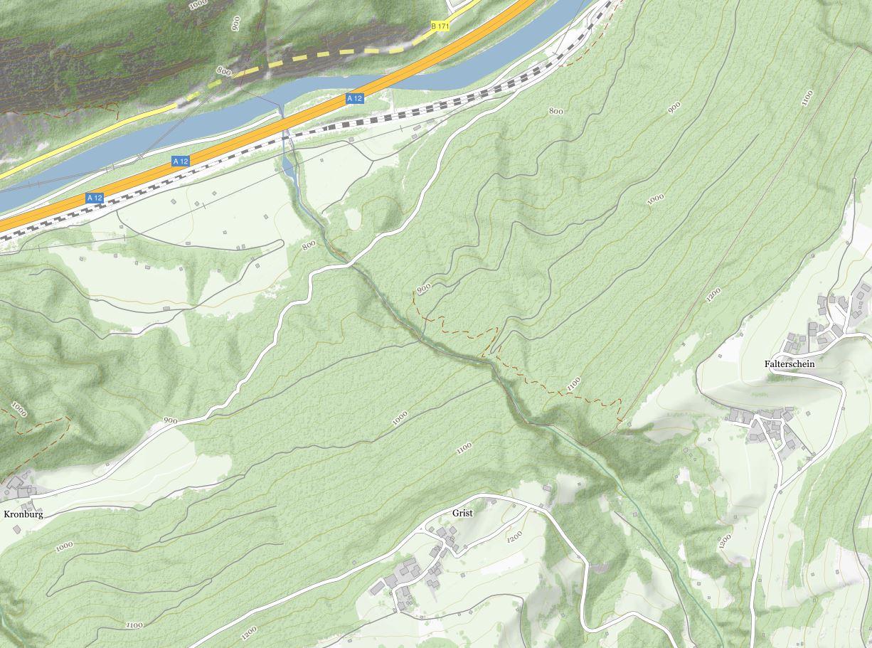 Kronburg Karte © tiris/ASI