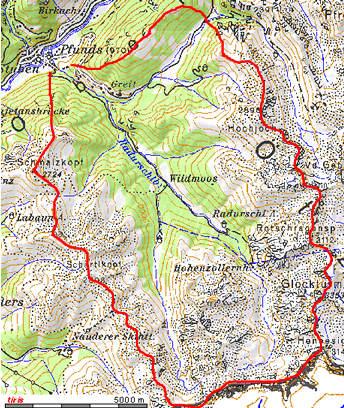 Radurschl Wassereinzugsgebiet - © BEV/tiris/ASI-Tirol