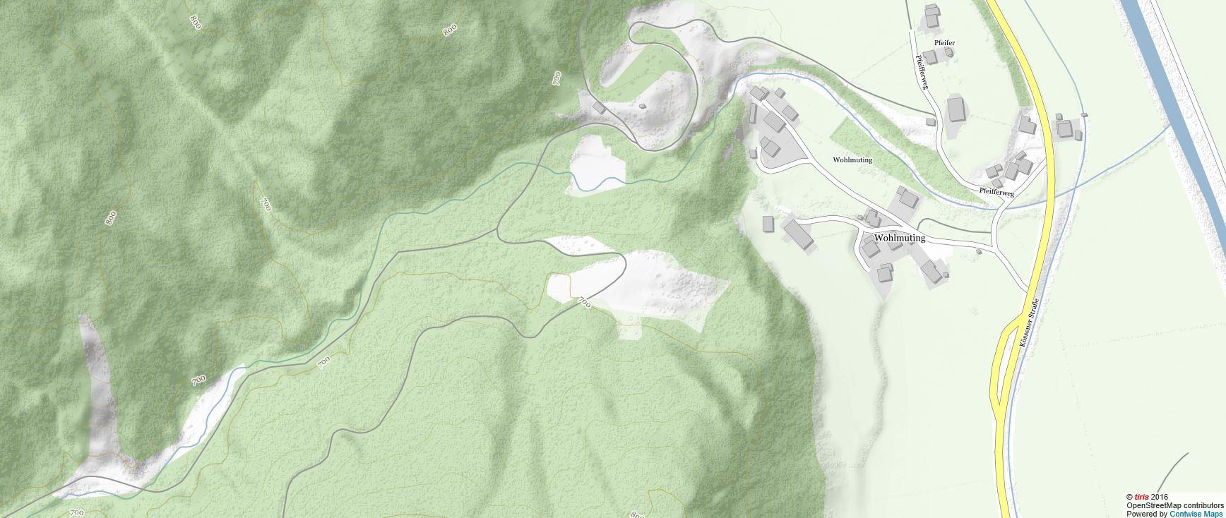 Taxabach Karte (c) tiris