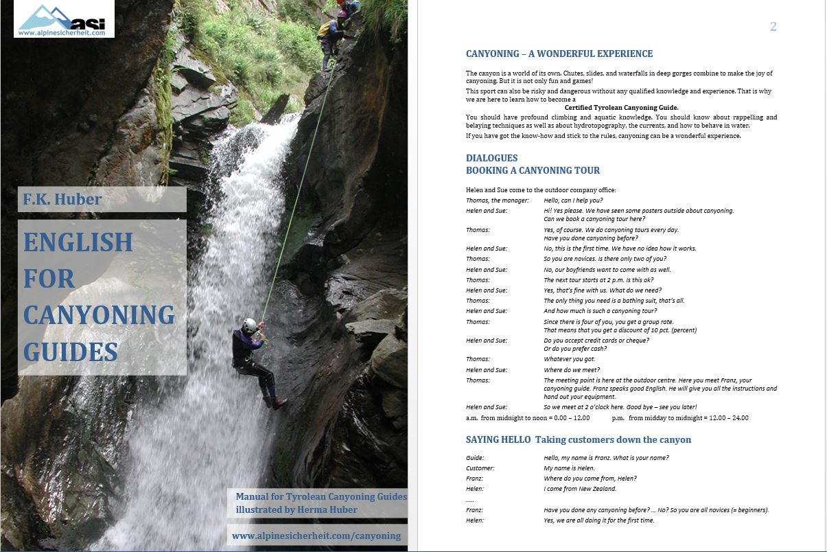 English for Canyoning Guides