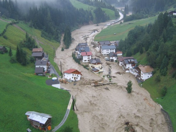 Fotos Hochwasser Kappl - Nederle