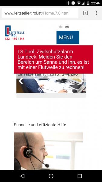 Screenshot Leitstelle Tirol 20160910 22:46 Uhr