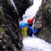 Der Schlitz vor A5 – Foto Wildwassersport Lechtal – Fun Rafting