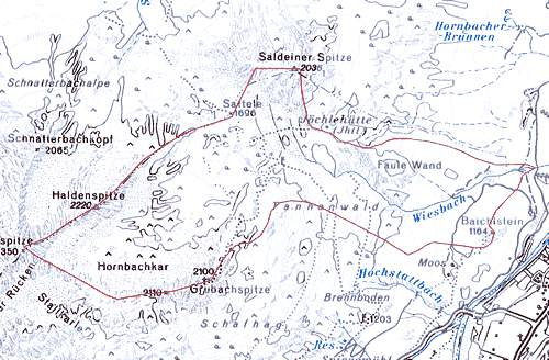 Wiesbachschlucht Gewässereinzugsgebiet © tiris/ASI