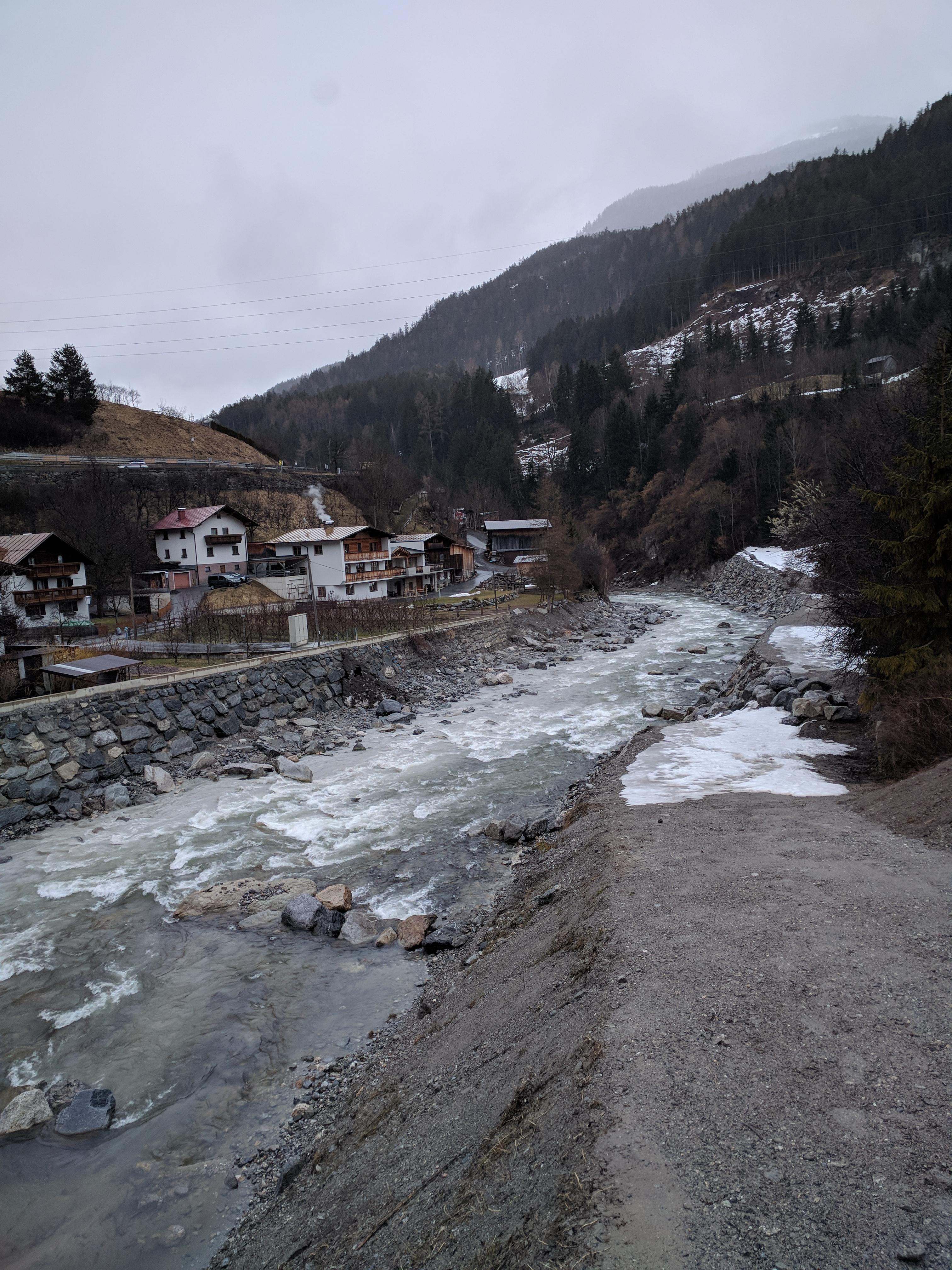 Hochwasserschutz an der Sanna - Pianner Schwall