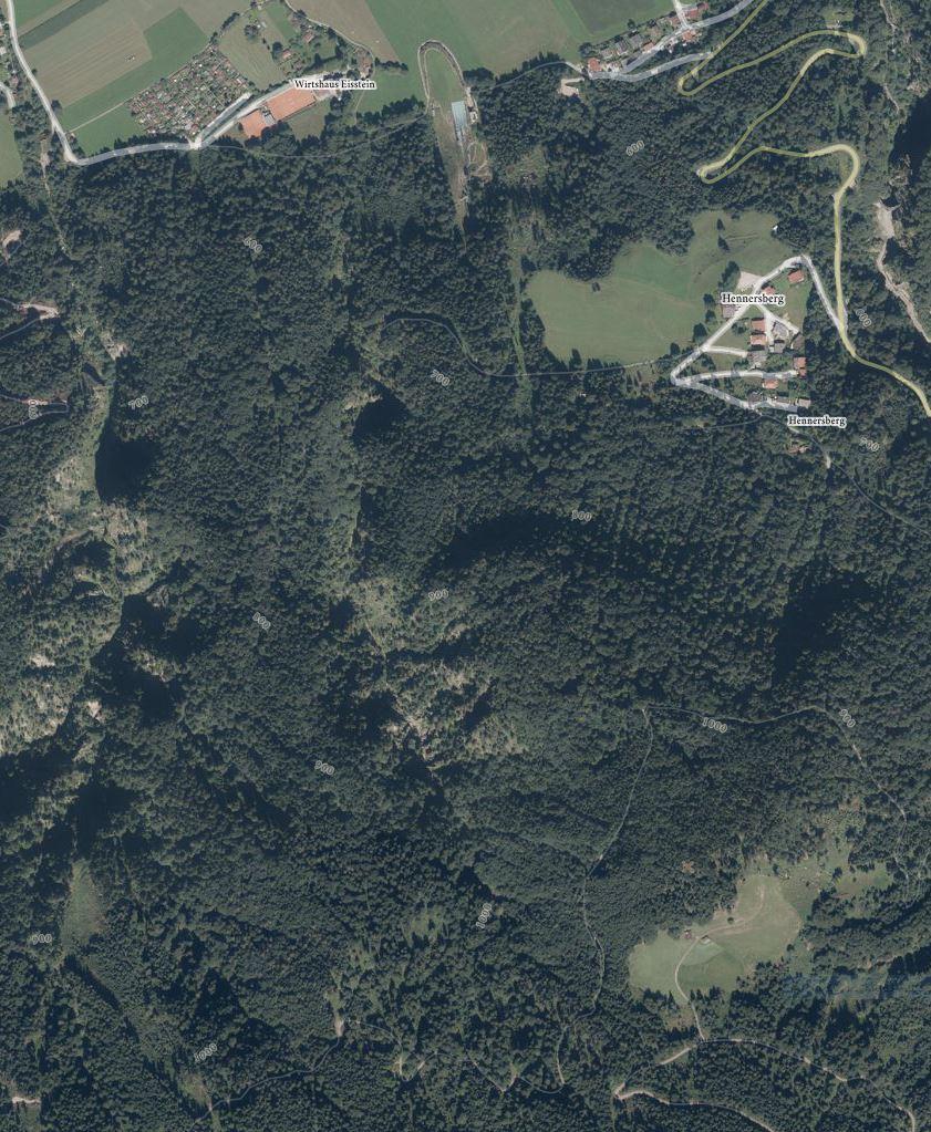 Latreinbach Canyoning - Orthofoto © Tiris/ASI