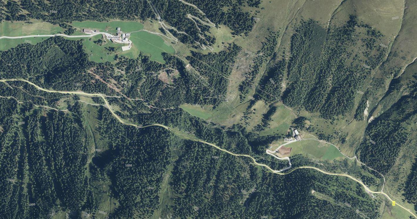 Orthofoto Nederbach Canyoning (c)Tiris