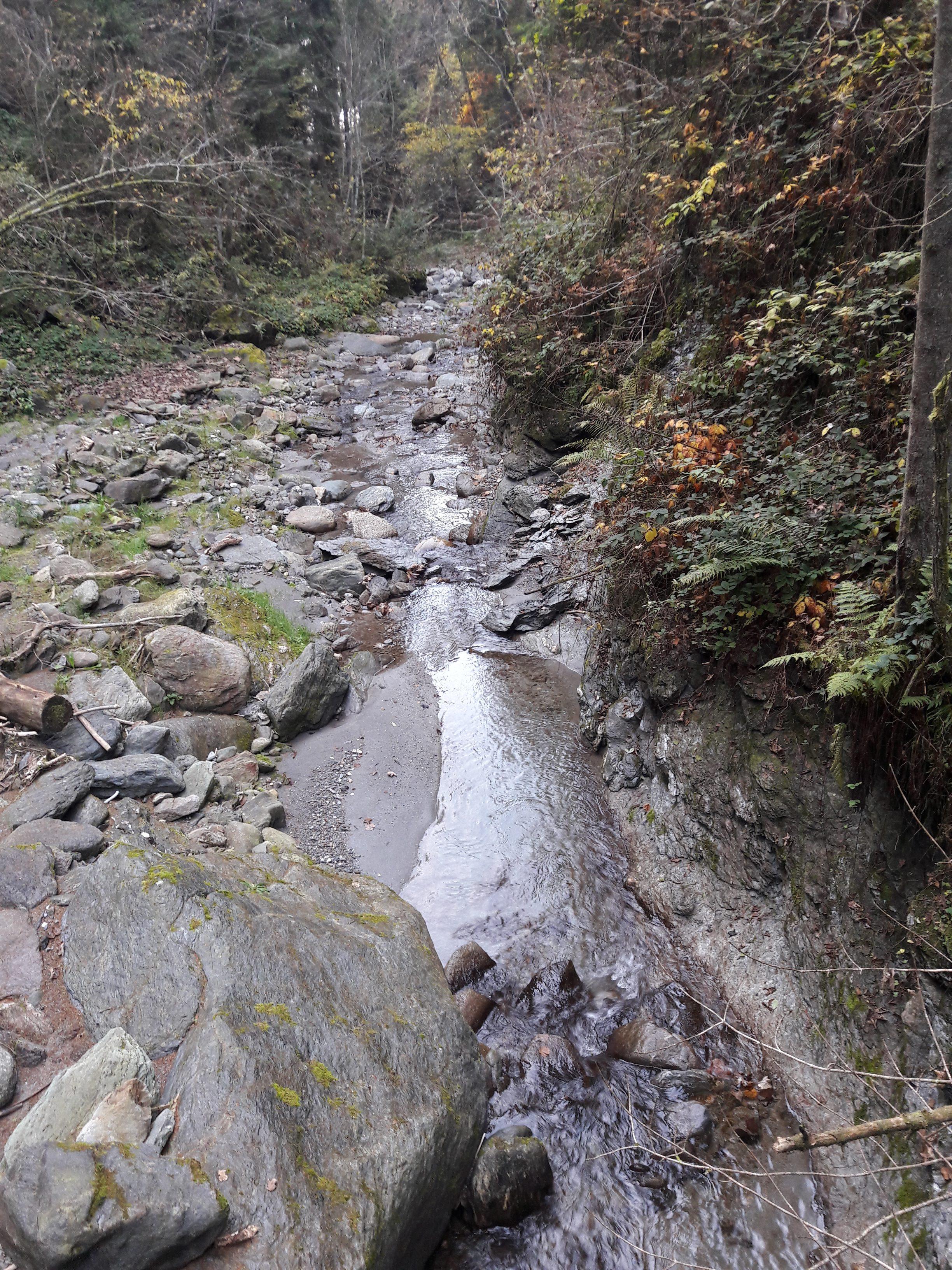 Wegstrecke zum unteren Weerbergcanyon