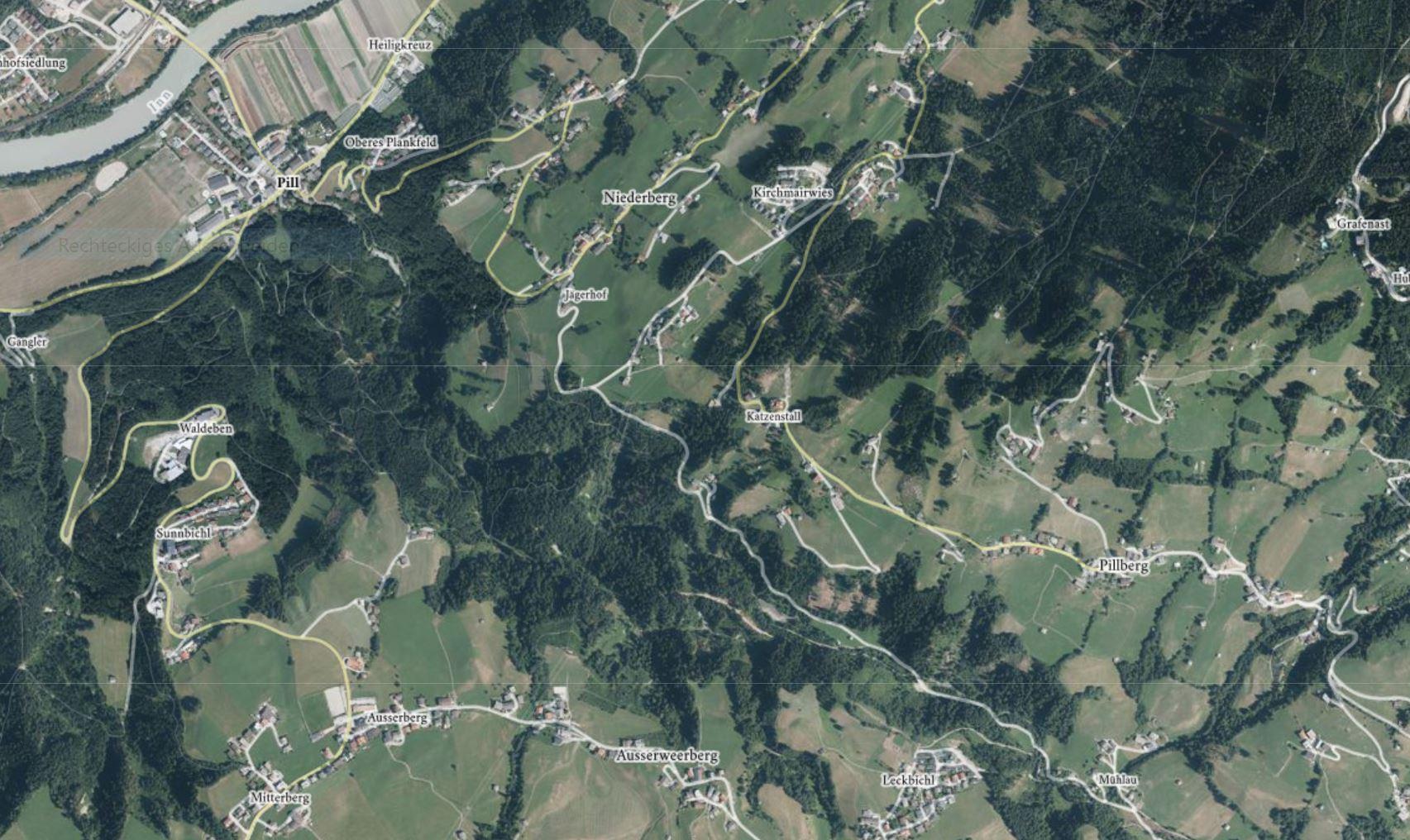 Weerbergcanyon Orthofoto © tiris/ASI-Tirol