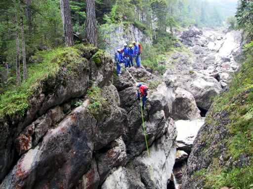 Frauenbach Canyoning - Alpinpolizei 2002