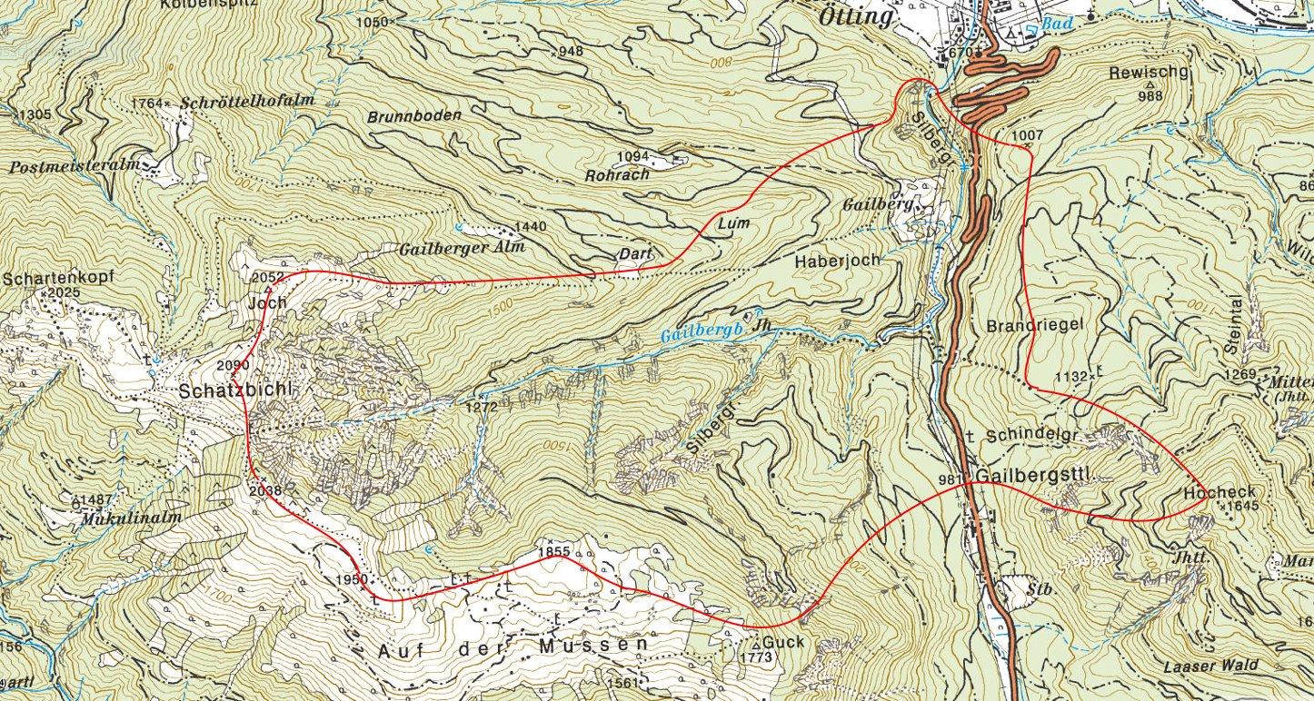 Silbergraben Gewässereinzugsgebiet © BEV/tiris/ASI-Tirol
