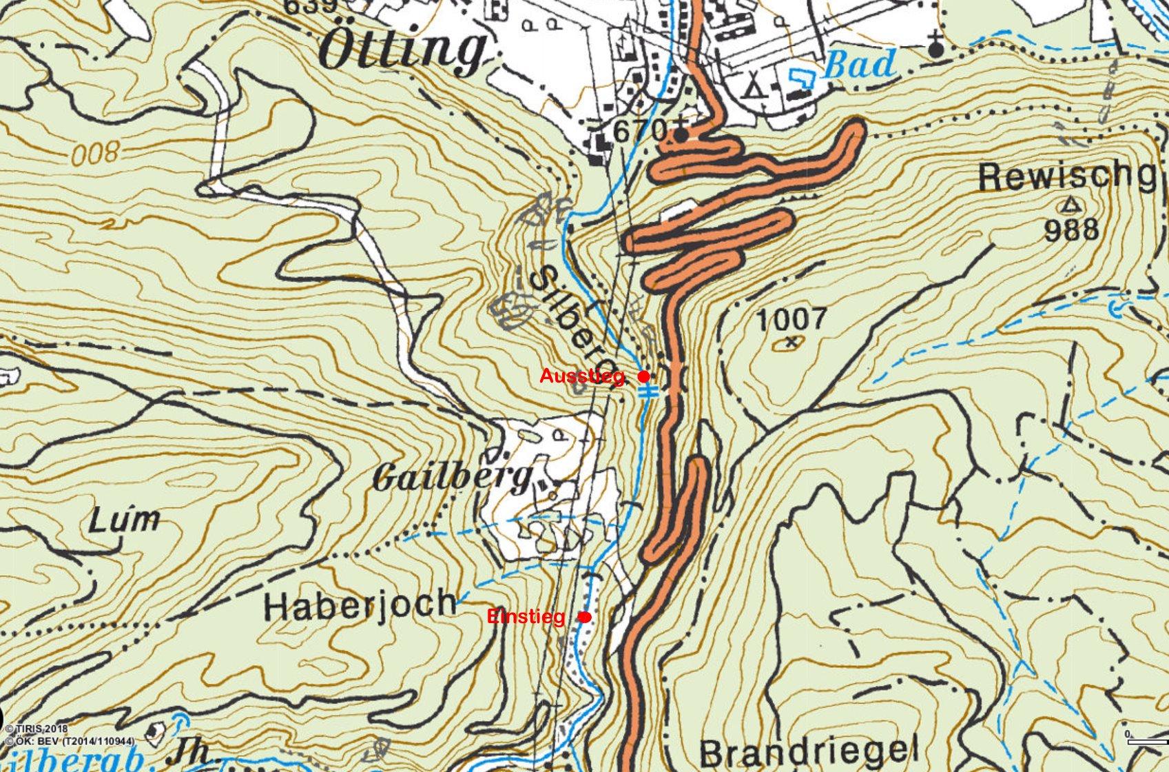Silbergraben ÖK 50 © BEV/tiris/ASI-Tirol