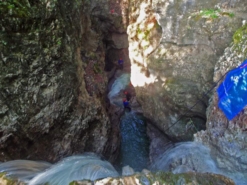 Canyoning Taxabach - Foto Wolfgang Streicher