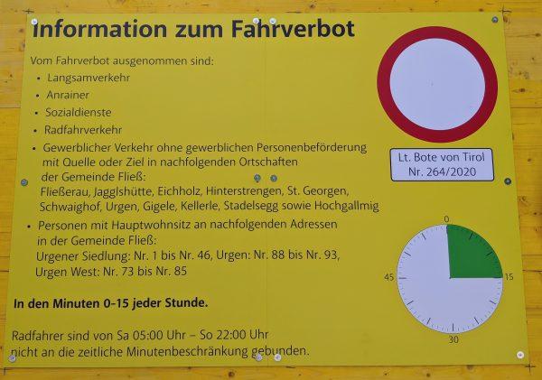 Informationen zum Fahrverbot Gramlach